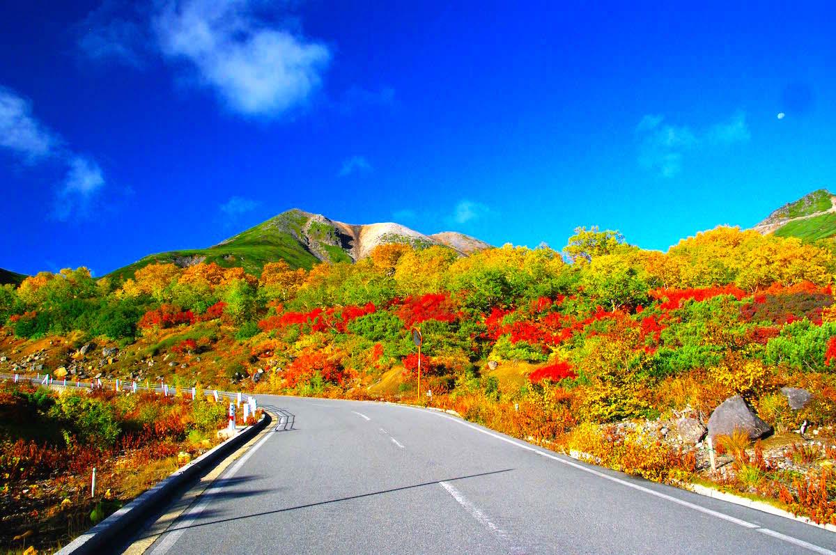 乗鞍エコーラインから最高峰・剣ヶ峰を眺望