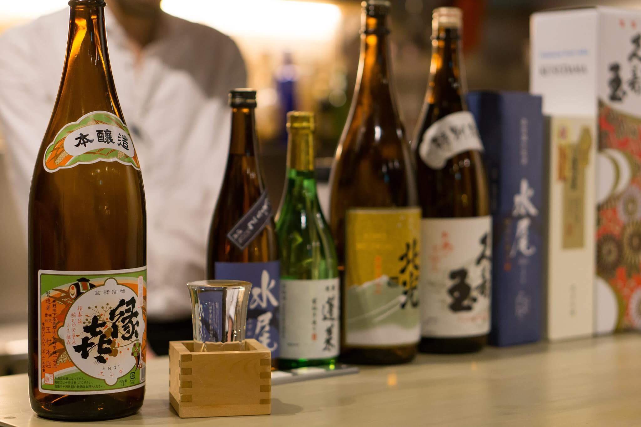 豊富な日本酒ラインアップ