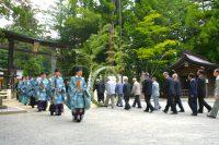 穂高神社で『夏越の大祓式』(茅の輪くぐり)
